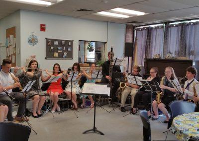 Band Performance at the Blackstone Senior Center